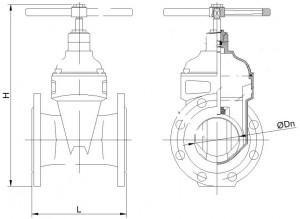 задвижка 30ч39р МЗВ 300 мм габаритные размеры