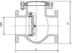 клапан чугунный 19ч16бр Ду 50 чертеж