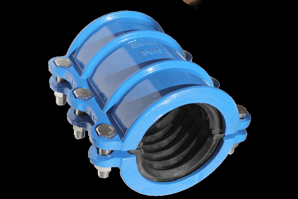 муфта двухсоставная чугунная 100 107-119 каучуковое уплотнение