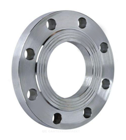 Фланец сталь 09Г2С плоский Ду 200 Ру10 тип 01 ряд 1 исп. B ГОСТ 33259-2015