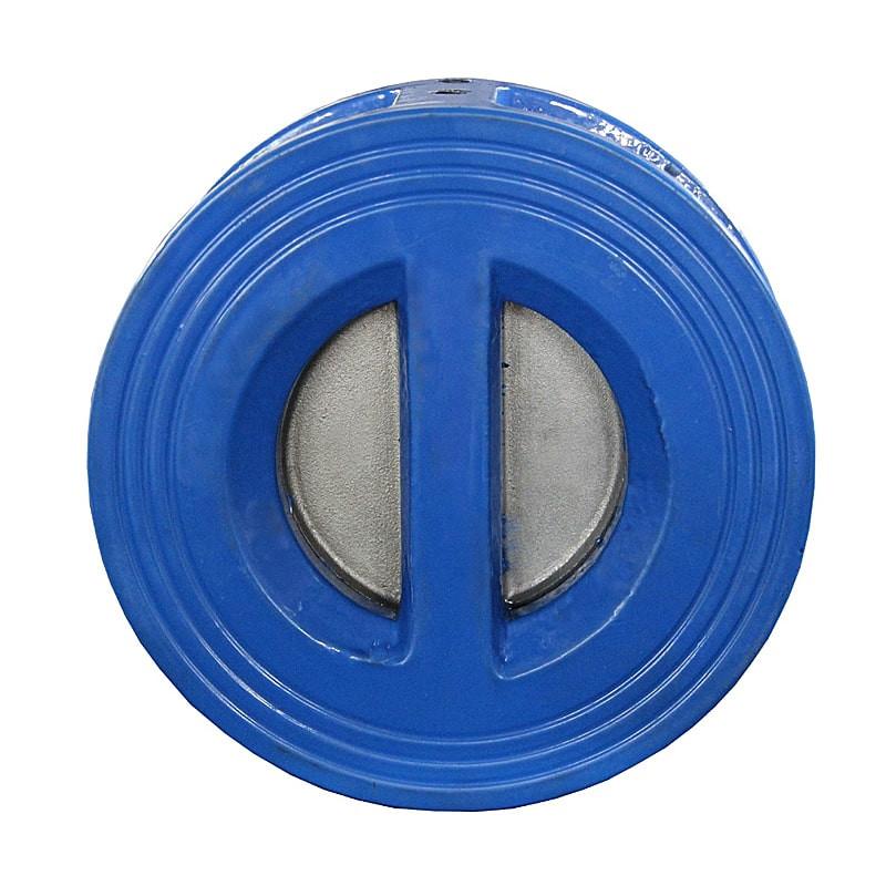 Обратный клапан межфланцевый двухстворчатый Ду 150 вид сзади