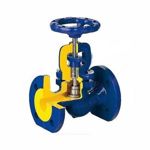 Клапан запорный сталь 215F Ду 20 Ру40 Тмакс=400 оС фл сальниковый Zetkama 215F020E01