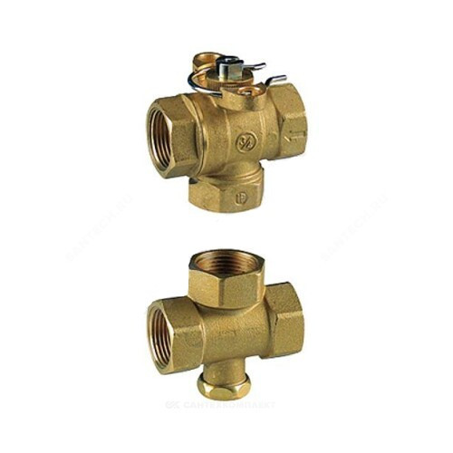 Клапан регулирующий латунь R279 с отсечным клапаном Ду 20 ВР G3/4 Giacomini R279Y004