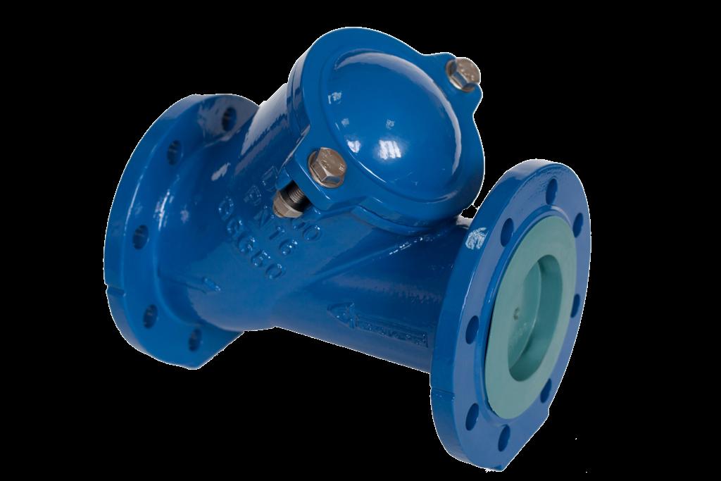 Клапан обратный шаровый  чугунный фланцевый DN200 фото крышки