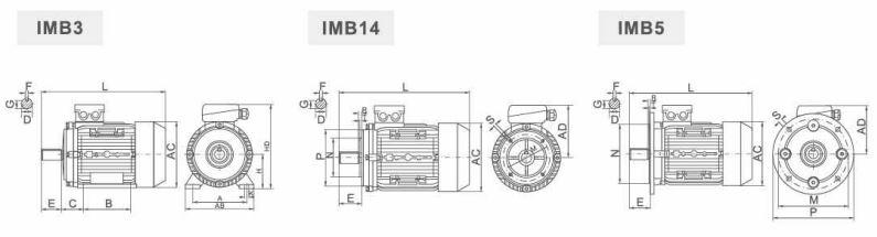 ABLE MS6326 0,11 кВт чертеж