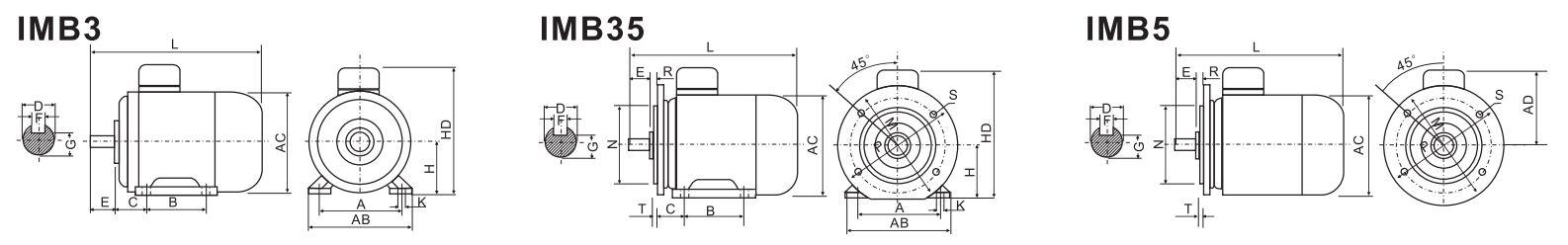 ABLE Y-160M2-2 15,0 кВт чертеж