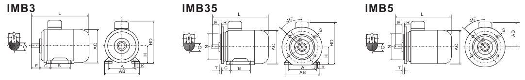 ABLE Y-355L-10 132 кВт чертеж