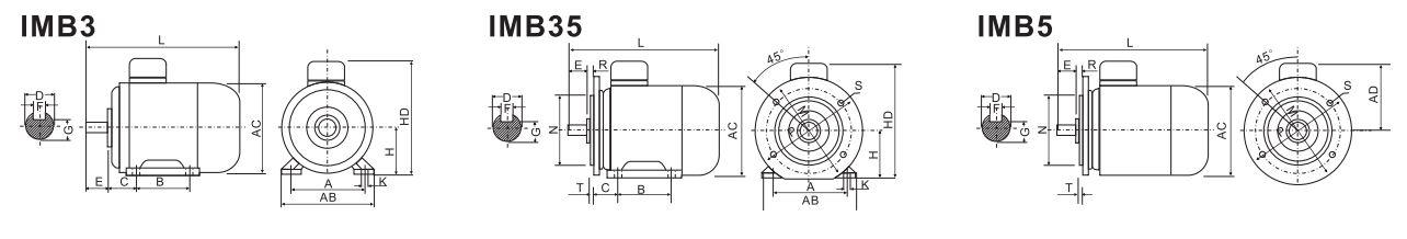 ABLE Y-200L2-6 22,0 кВт чертеж