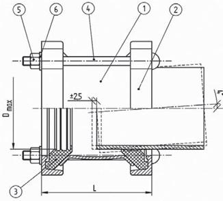 ДРК 250 (272-289)  мм чертеж патрубка