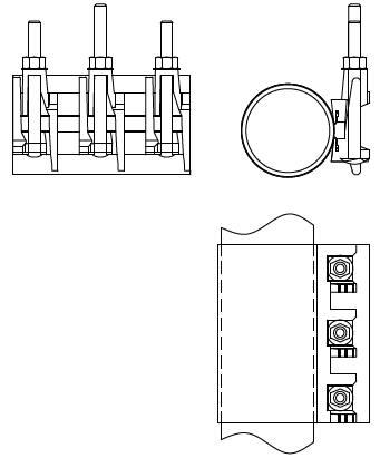 хомут с чугунным замком 65 75-85 200 мм размеры