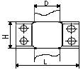 хомут оцинкованный двухсоставной Ду20 чертеж